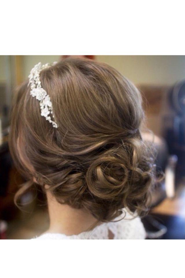 Messy bun in a formal way | Wedding hairstyles, Bridal hair, Hair styles