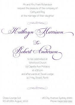 Imperial Bliss 5x7 Vertical Flat Invitation In Purple Dreamday