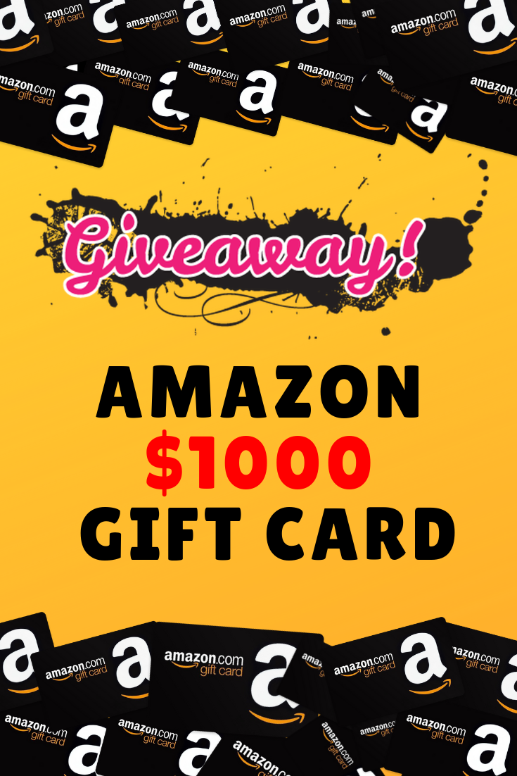 WIN $1000 Amazon Gift Card Giveaway to get you free Amazon gift card