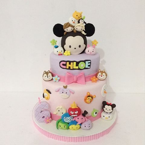 Disney tsum tsum cake 2tiers dummy delightfullycake