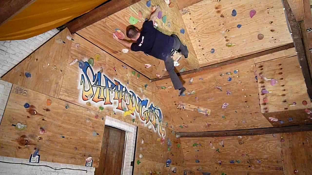 Climbing on home made wall | get fit | Pinterest | Bouldering wall ...