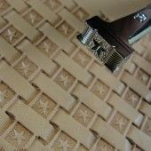 Leather Stamping Tool - Star Center Basket Weave Stamp