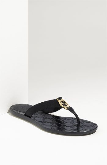 3b967f9c1f35 Great vacation flip flop. Gucci Logo Flip Flop Sandal available at   Nordstrom LOVE ! LLOVE! LLLOVE!