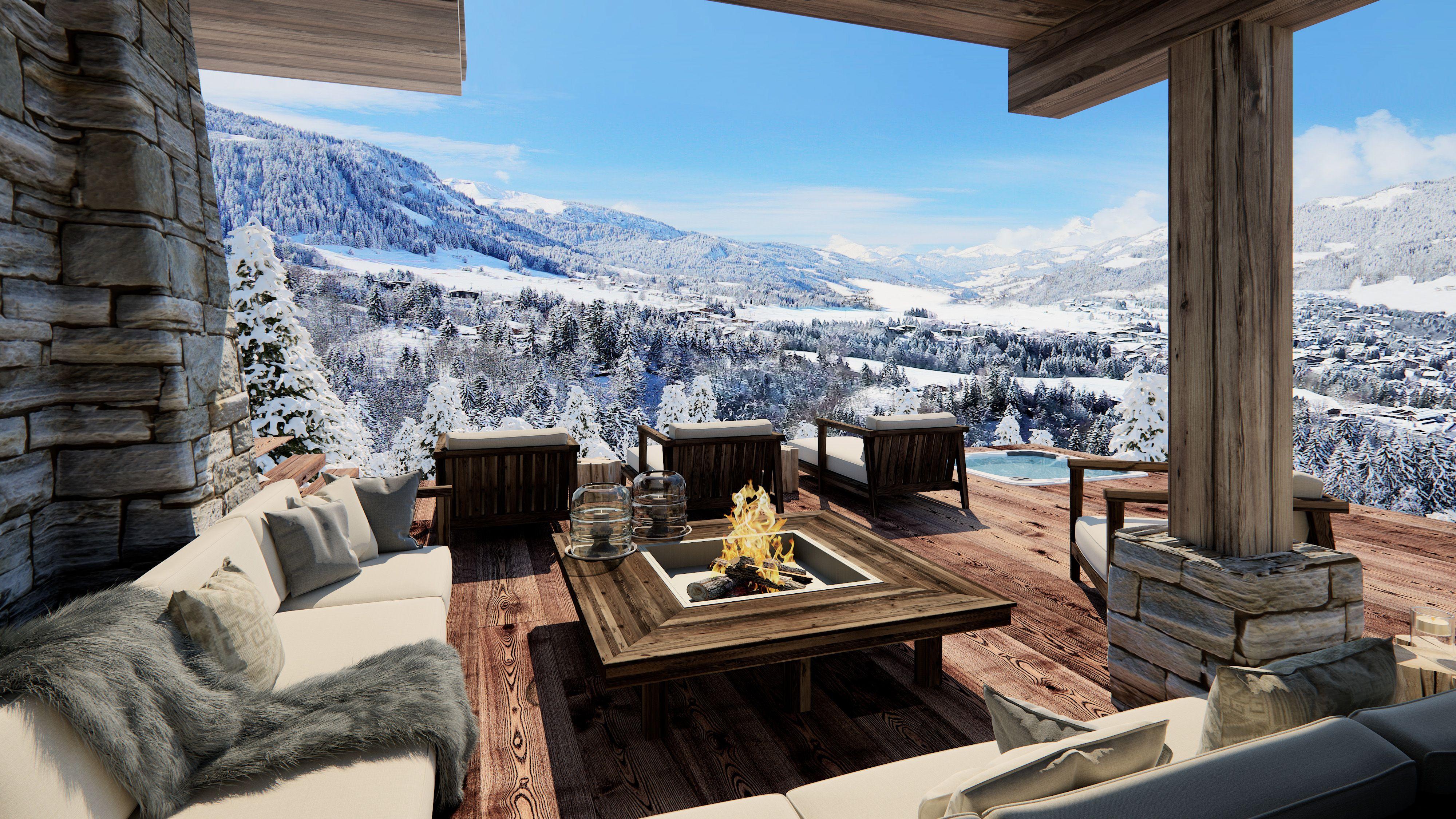 projet immobilier megeve construction de luxe chalet sur piste luxury chalet in megeve