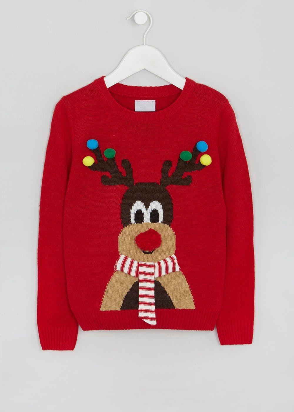 d5c4a2e2c649 Mini Me Kids Family Reindeer Christmas Jumper (4-13yrs) | AW19 OLDER ...