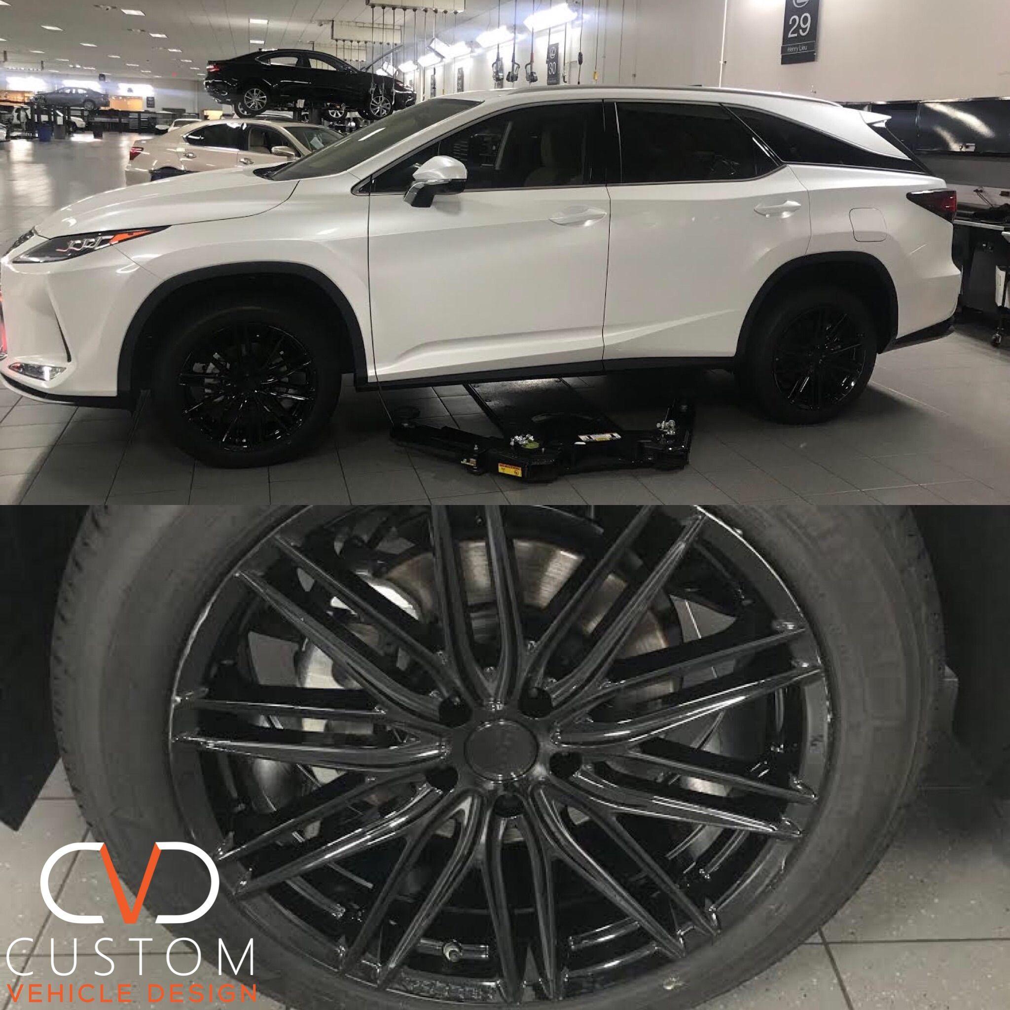 2020 Lexus Rx350 With 20 Vossen Vfs4 Gloss Black Wheels 2020