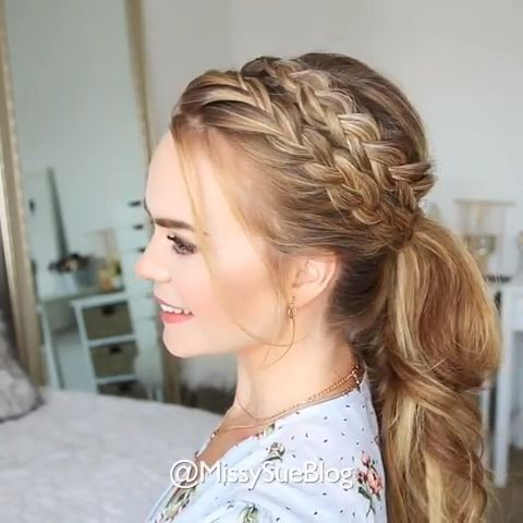 Braided Hairstyles With Video Tutorial Hairstyles Hairs Hair Braid Videos Braided Hairstyles Long Hair Styles