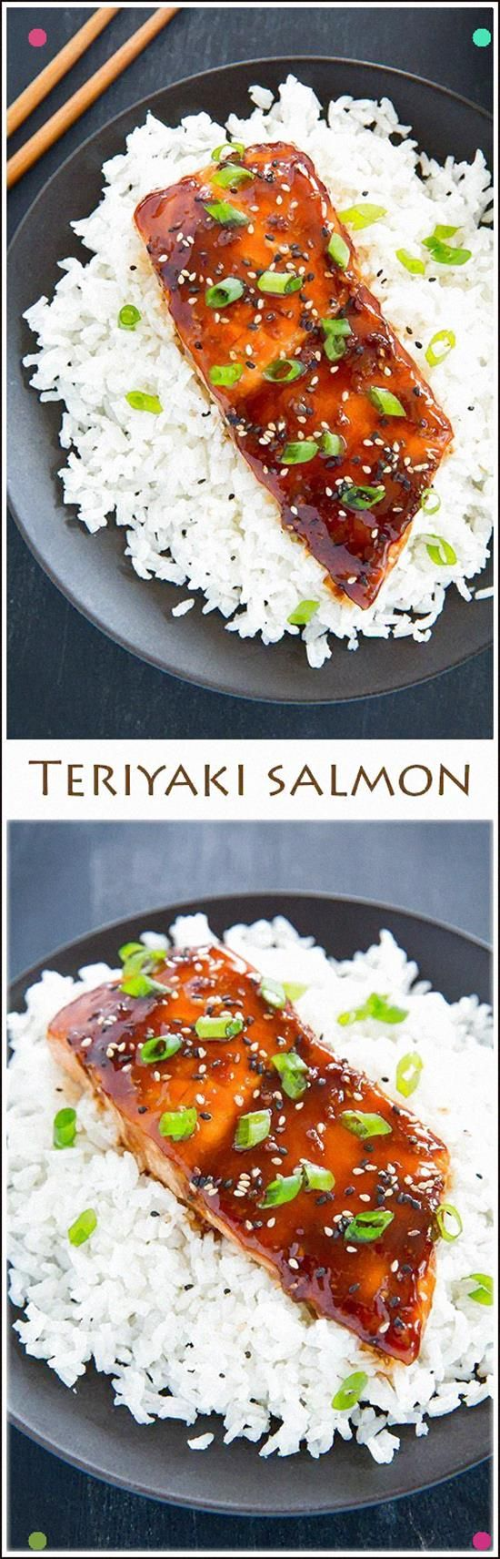 Teriyaki Salmon - This Salmon Is So Flavorful And Delicious The Teriyaki Sauce Is Great On Chicken Too #teriyakisalmon