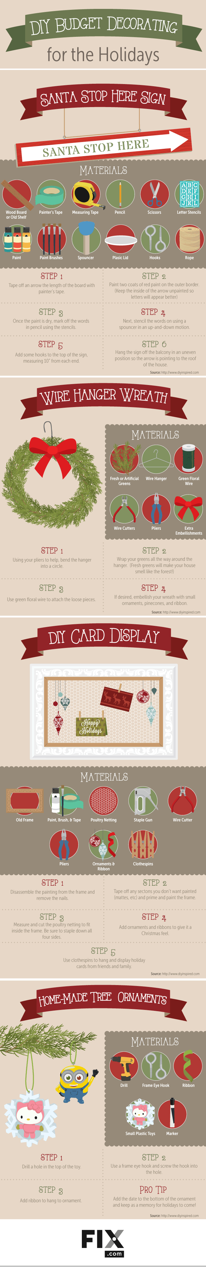 DIY Budget Decorating for the Holidays #Infographic