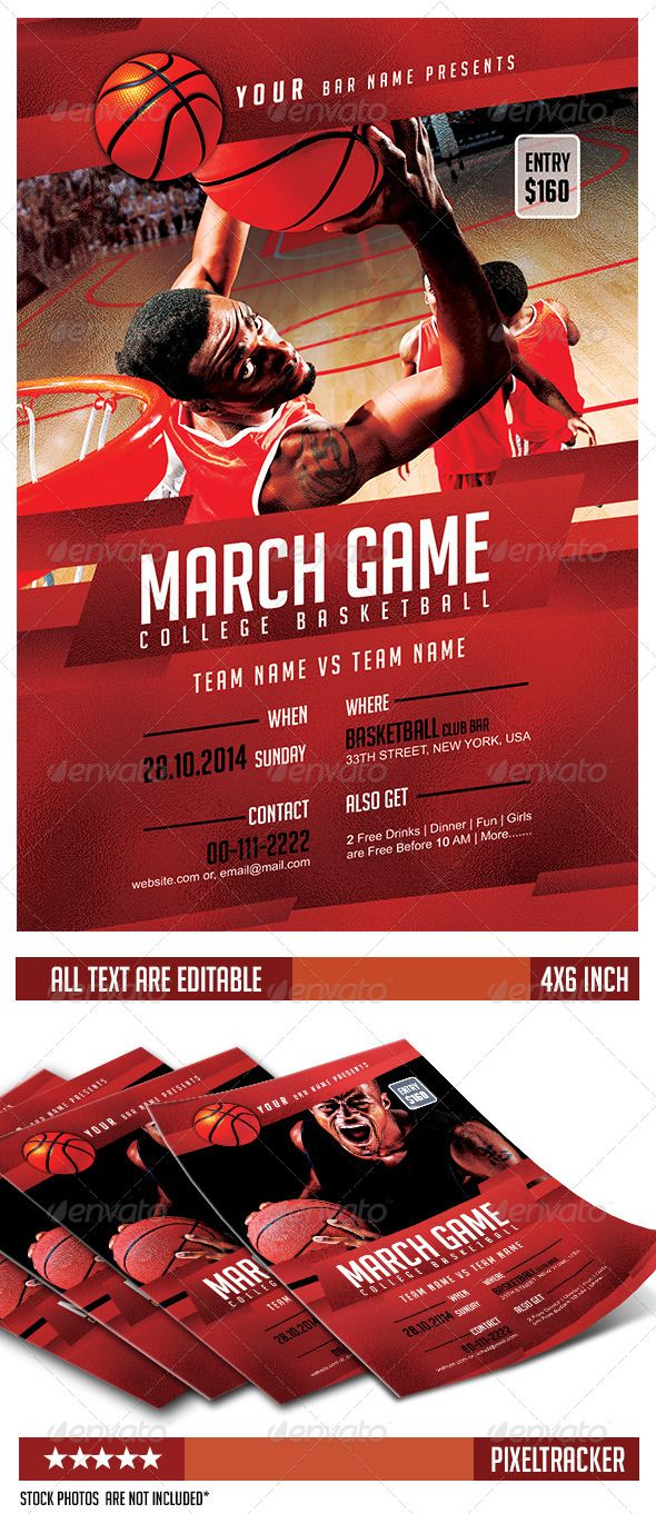 March Game College Basketball Flyer Tennis posters, Flyer
