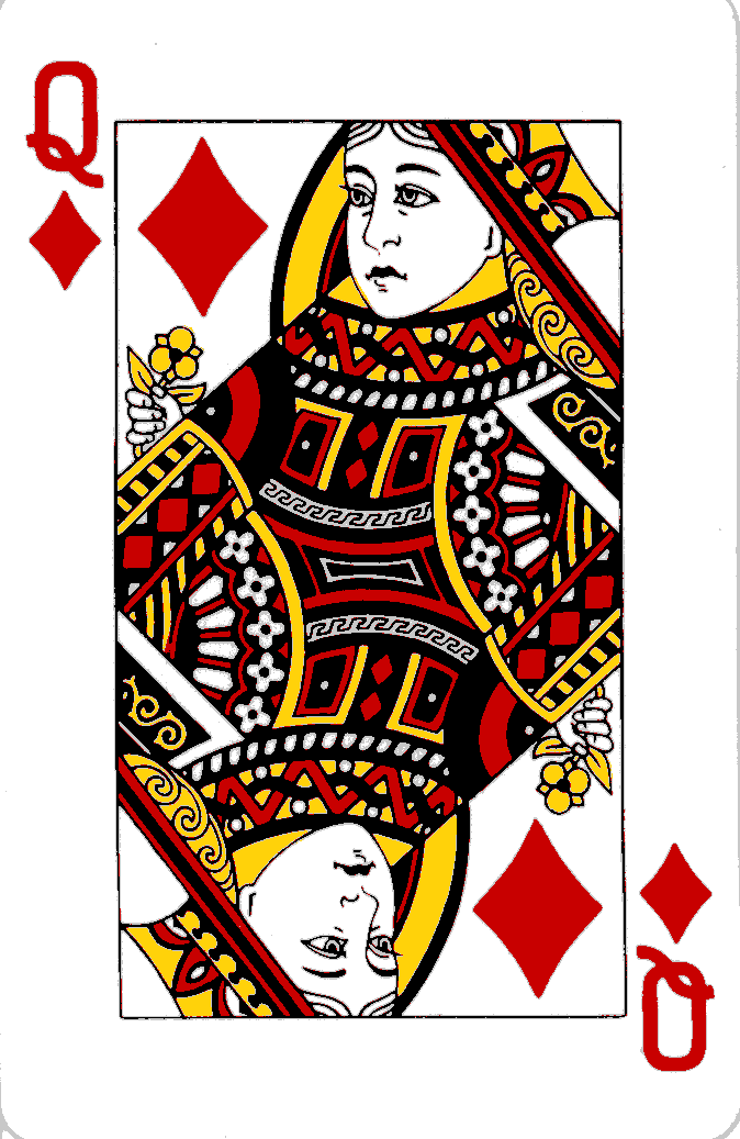 Queen Diamonds Png 674 1037 Playing Cards Art Queen Of Hearts Card Playing Cards Design