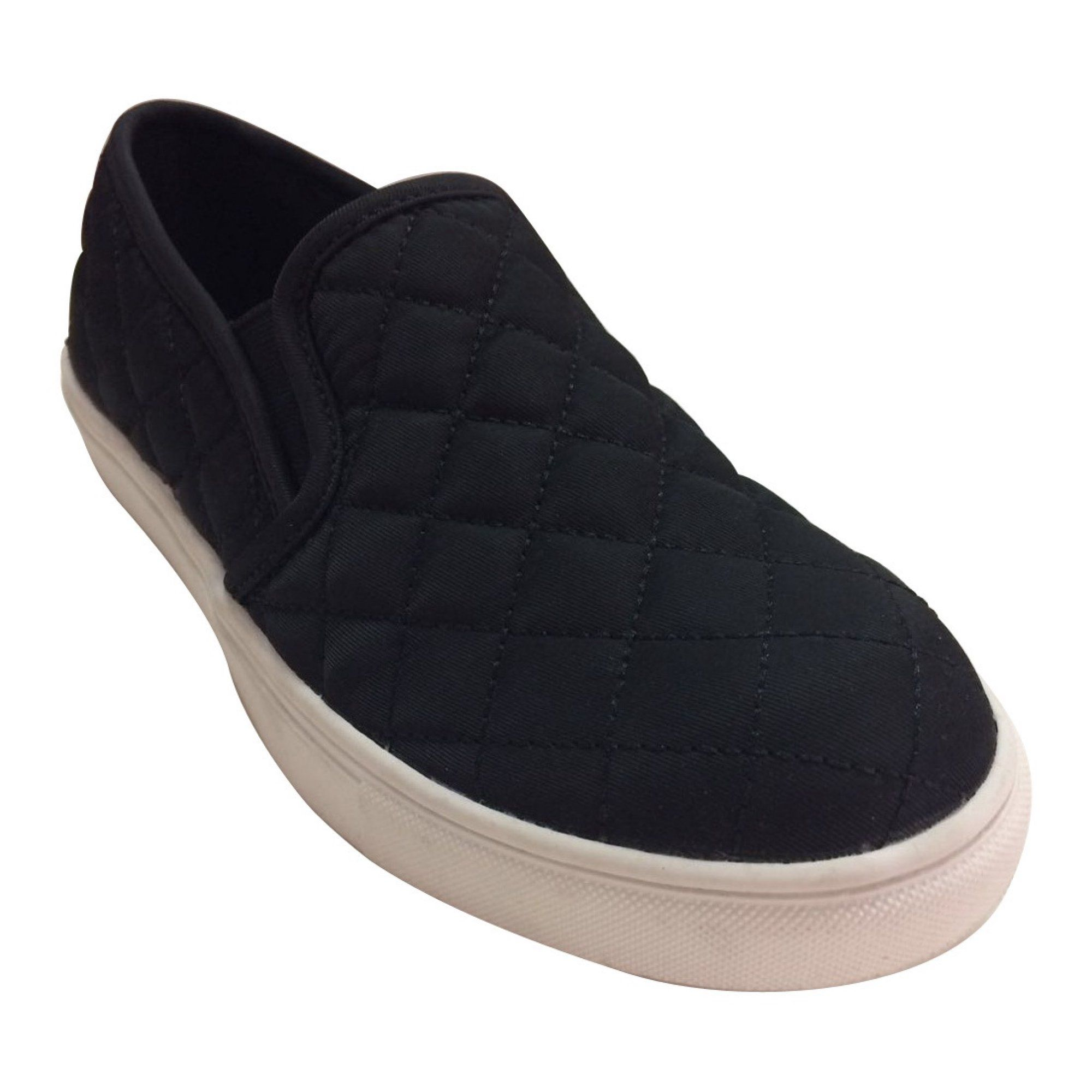b9f3bcdc5bc728 Time and Tru Women s Flat Quilted Shoe