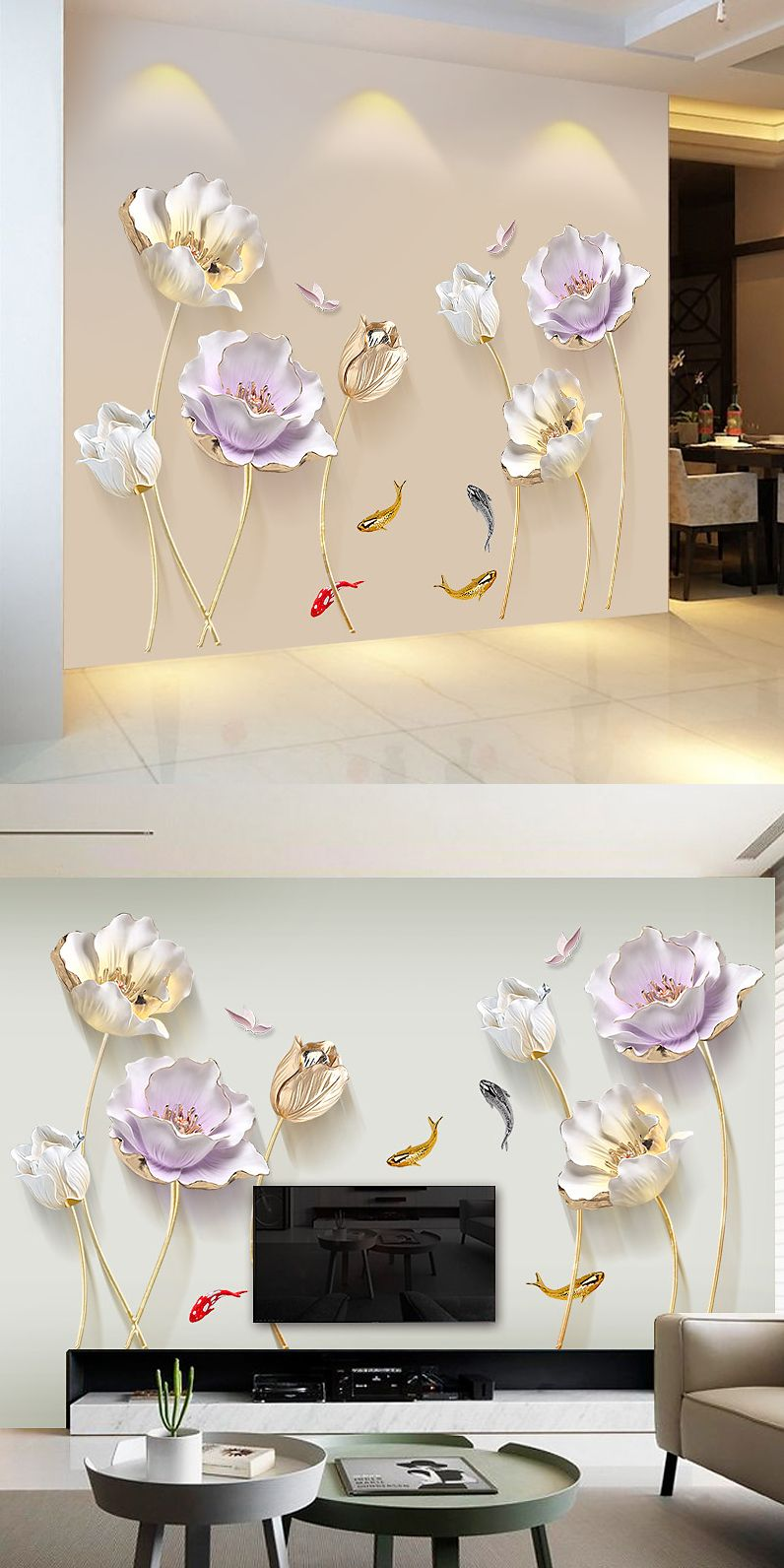 ff4fb31c576 Chinese style flower 3d wallpaper wall stickers. Looking for aliexpress best  deals and top sellers