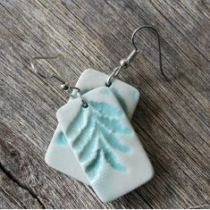 Celeste green porcelain earrings