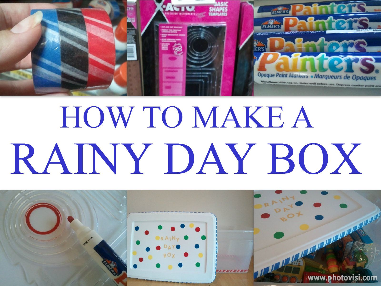 How to make a Rainy Day Box | Toddler time, treats & more ...