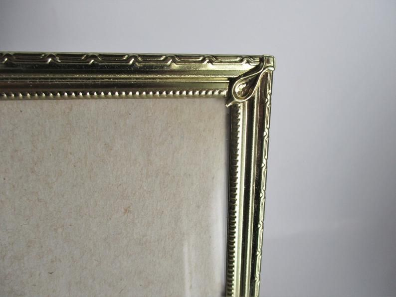 Vintage Picture Frame 8 X 10 Metal Gold Tone Ornate Etched Etsy In 2020 Vintage Picture Frames Vintage Pictures Picture Frames
