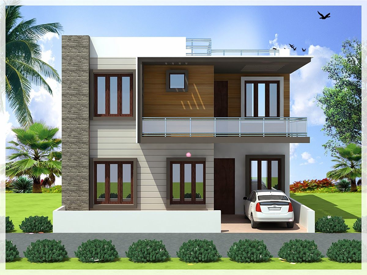 Simple Home Design In 2D - Modern House