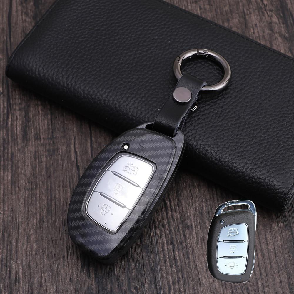 Carbon Fiber Car Key Case High Quality Car Key Cover For Hyundai