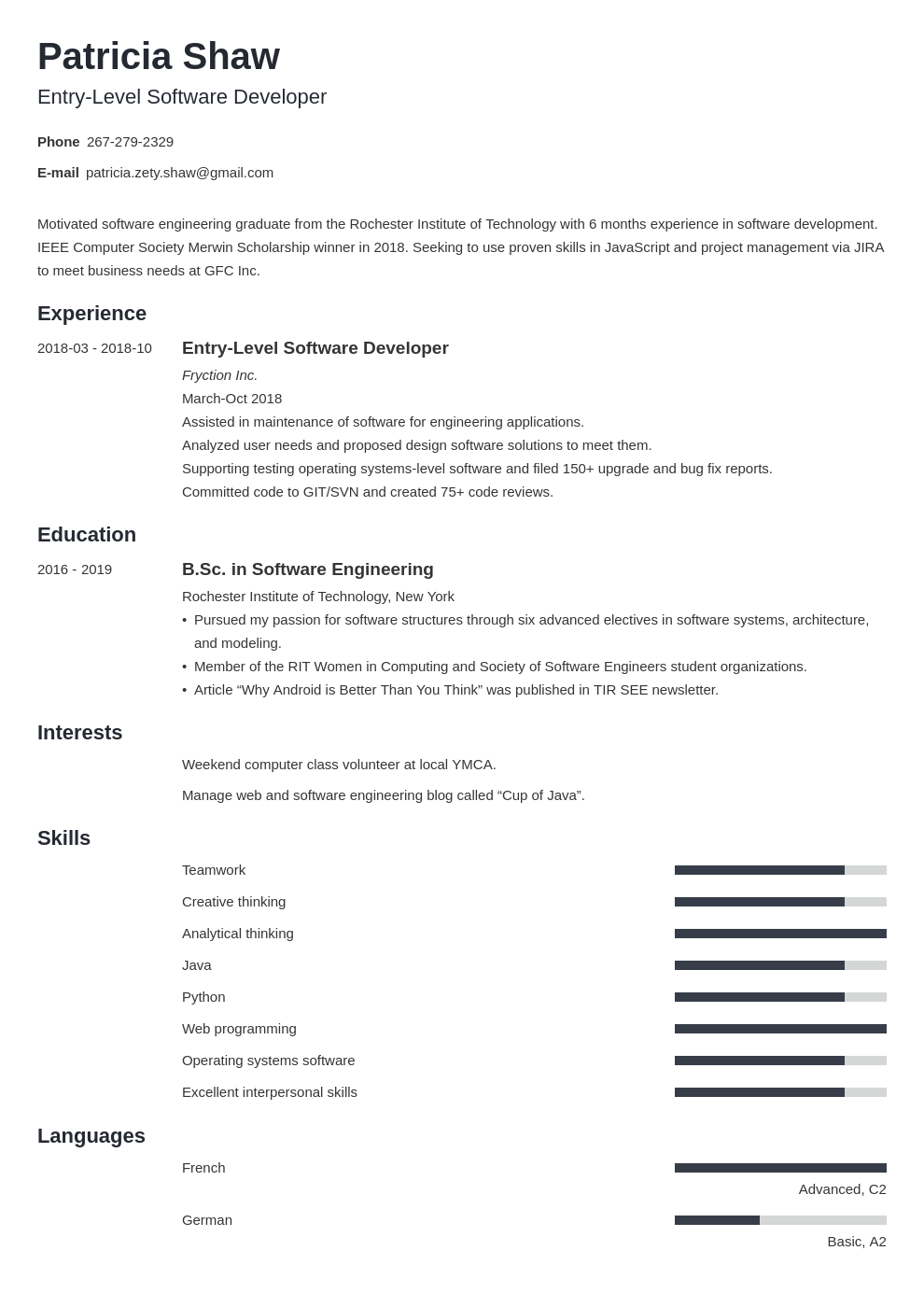 19++ Entry level software engineer resume examples ideas in 2021