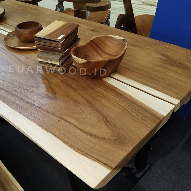 Suar Wood Jointed Dining Table Furniture Manufacturer We Are Supplier Indonesia Solid