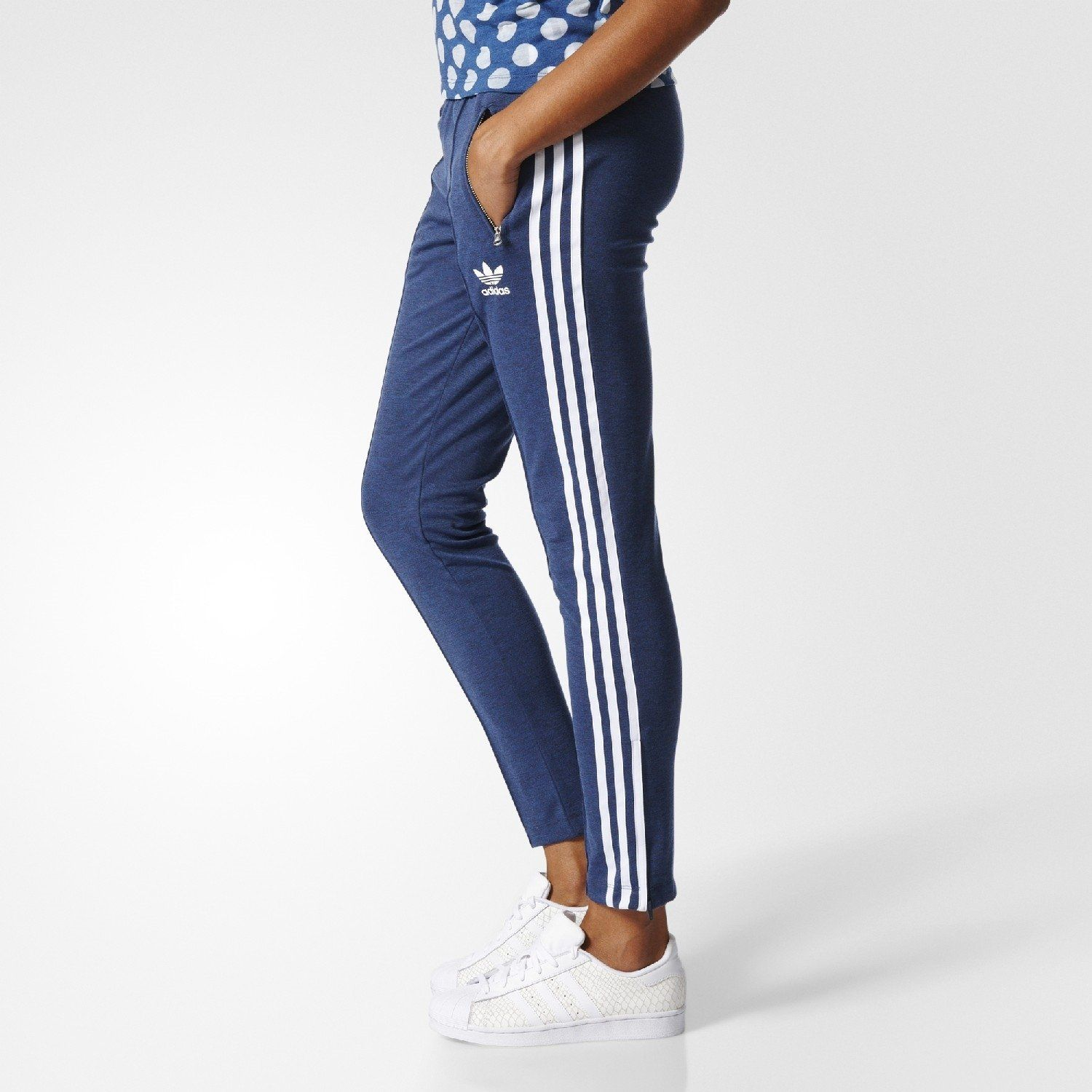 adidas Originals Womens Superstar Track Pant Mystery Blue White S -- You  can find more details by visiting the image link.(It is Amazon affiliate  link)   ... 30664efe30