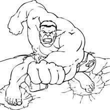 laveur de vitre super heroes coloring pages | The Hulk's force - Coloring page - SUPER HEROES Coloring ...