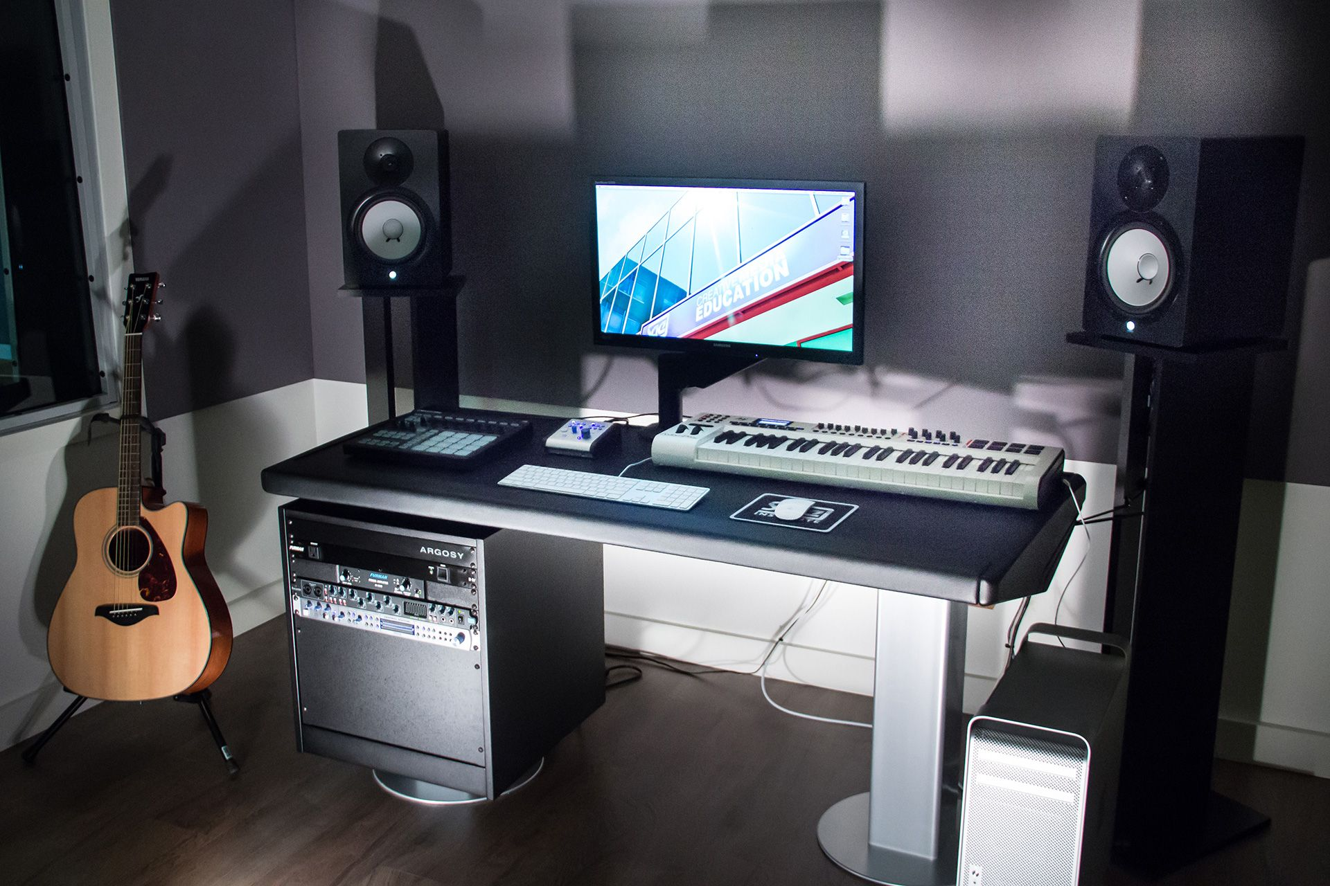 SAE Production Suite With Argosy Mirage Edit Desk Music Studio - Cheap diy ikea home studio desk