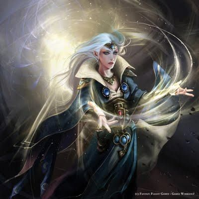 Light Magic High Elf Mage Whilst Lesser Races Must Study Magic In Its Corrupted Broken Form High Elf Mages Harness Elf Art Warhammer Fantasy Fantasy Wizard