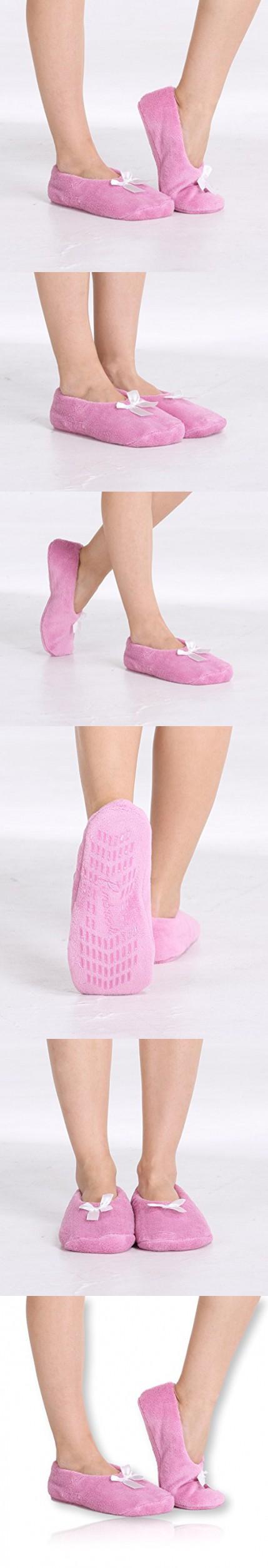 pembrook fuzzy soft coral fleece slippers pink medium 7 8