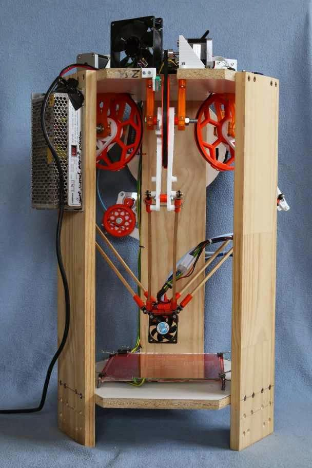 Experimental IcePick Delta 3D Printer Built without Linear