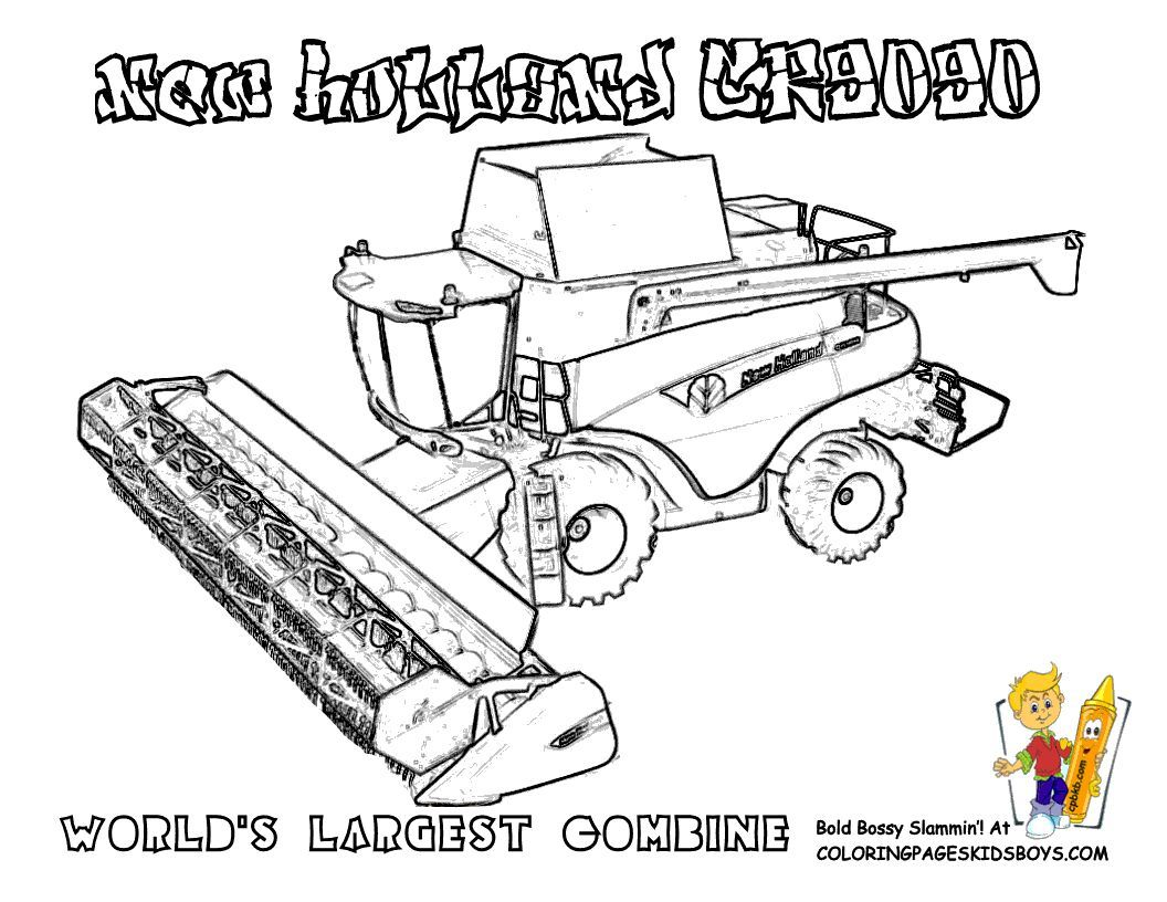 Big Boss Tractor New Holland Cr909 Combine Print It Out Now Wow Tell Other Coloring Kids Your Eye Tractor Coloring Pages Coloring Pages To Print Tractors