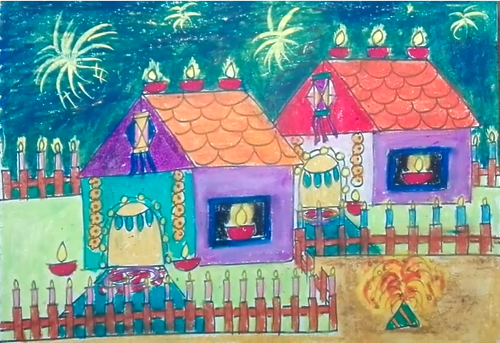 Diwali Drawing Competition Pictures Scenes Paintings Sketch Drawing Ideas For Kids And School Studen Diwali Drawing Drawing Competition Diwali Painting