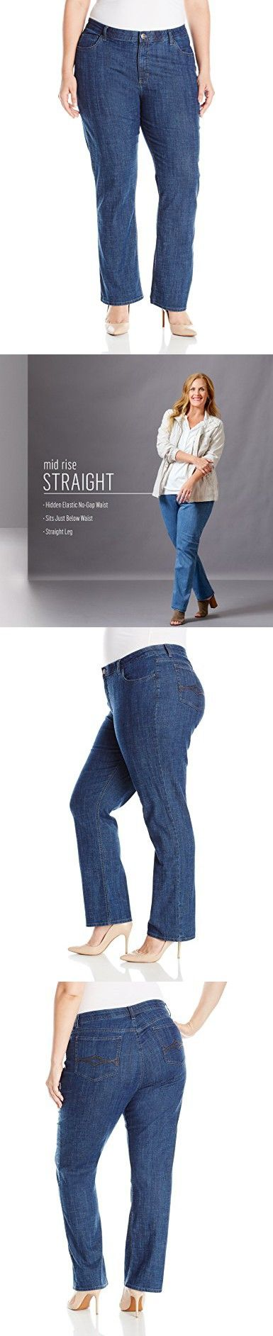 354f43a649 Riders by Lee Indigo Women s Plus-Size Slender Stretch Slim Straight Leg  Jean