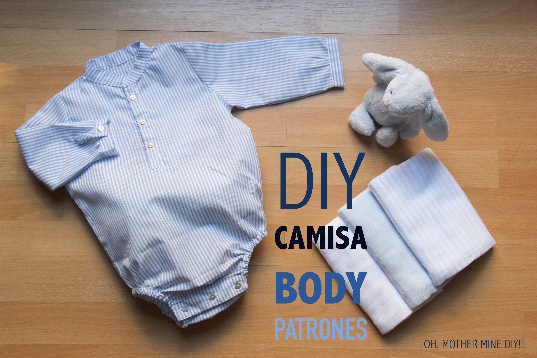 DIY Como hacer body camisa bebe (patrones gratis ...