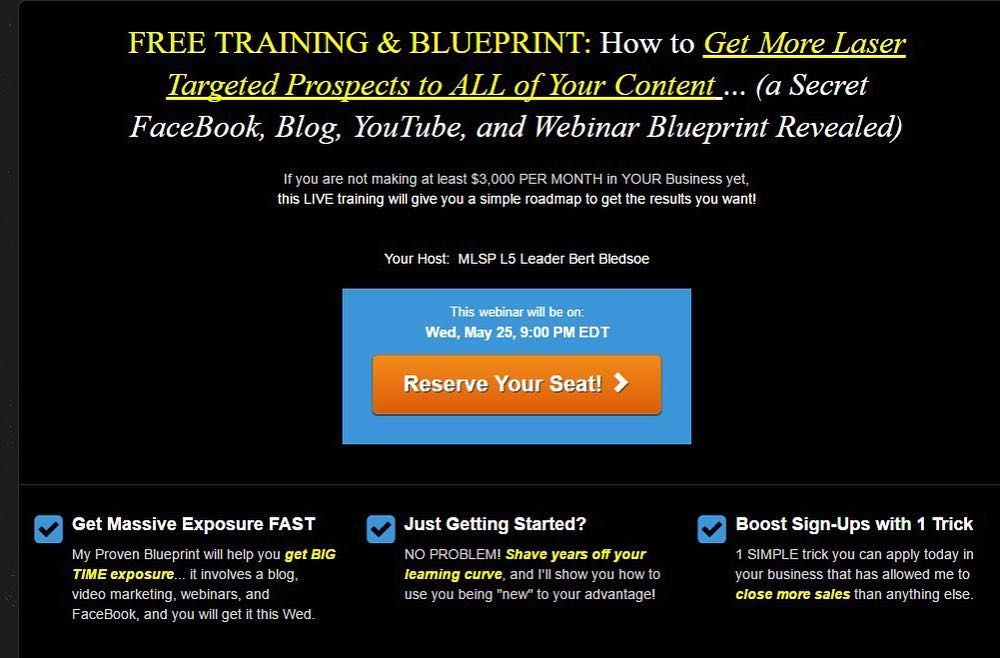 Attn entrepreneurs free training blueprint how to get more laser a secret facebook blog youtube and webinar blueprint revealed if you are not malvernweather Gallery