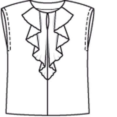 Блузка - выкройка № 117 из журнала 8/2009 Burda – выкройки блузок на Burdastyle.ru