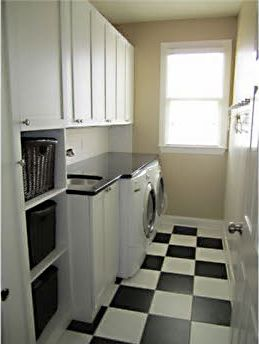Chic functional laundry room we created for a client Cabinetry