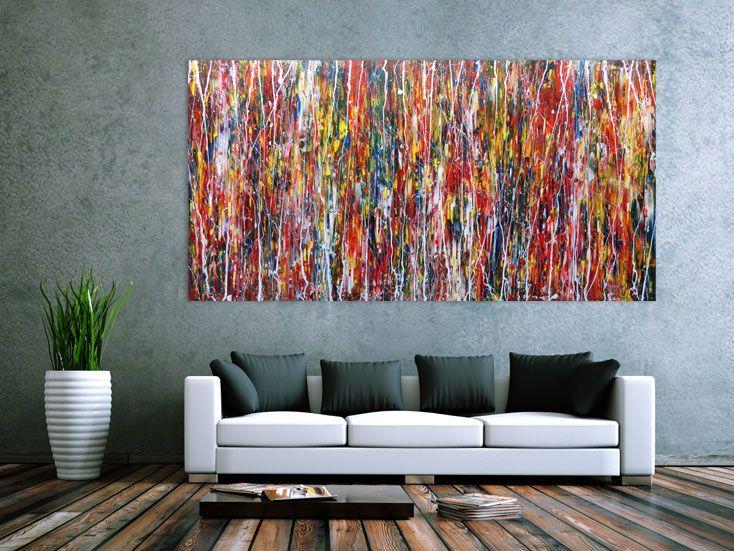 Modernes Acrylbild Abstrakt Und Bund 200x100cm Von Xxl Art.de