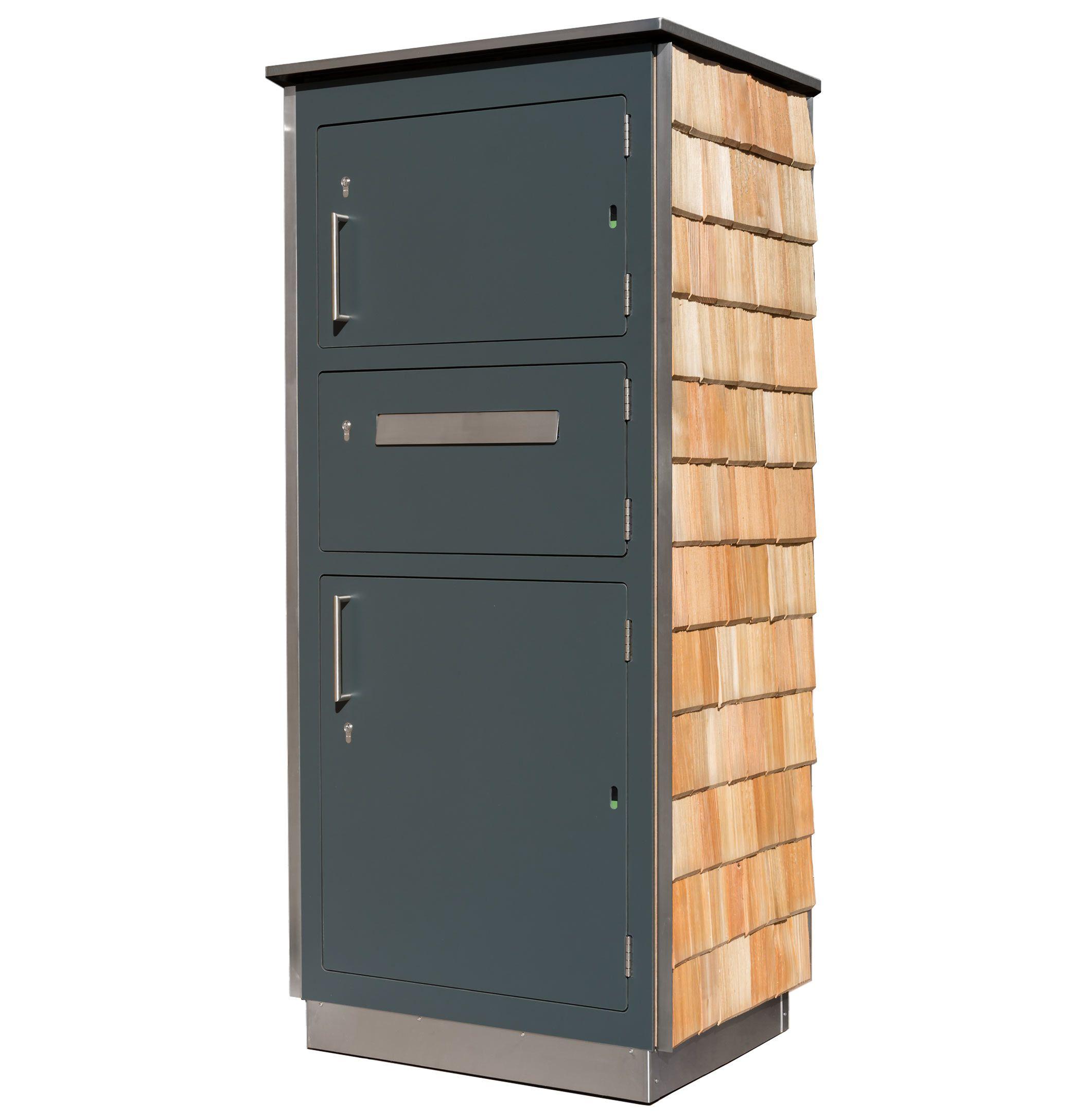 Paketkasten Mit Schindel Paketkasten Paketbriefkasten Briefkasten