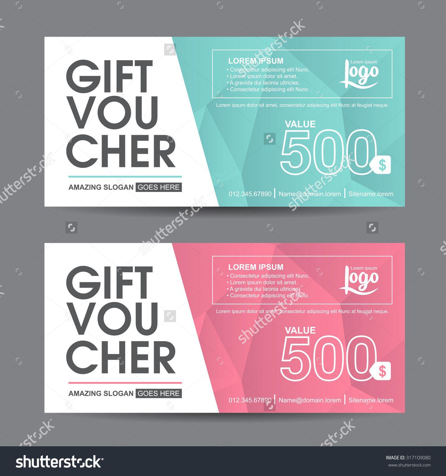 Gift Certificate Voucher Template Stockvectorgiftvouchertemplatewithcolorfulpatterncutegift .