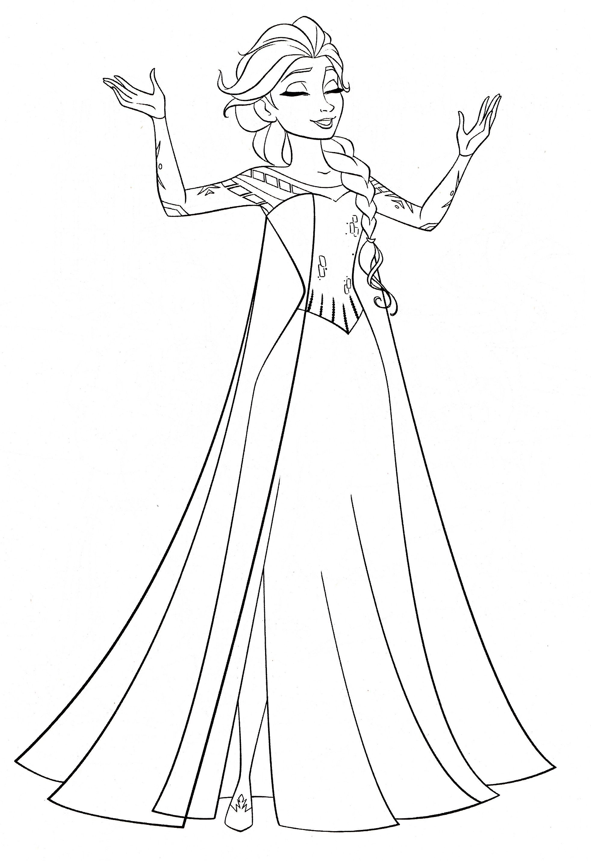 Queen Elsa Coloring Frozen Queen Elsa Coloring Pages Queen Elsa And Princess Anna Co Disney Princess Coloring Pages Frozen Coloring Pages Elsa Coloring Pages