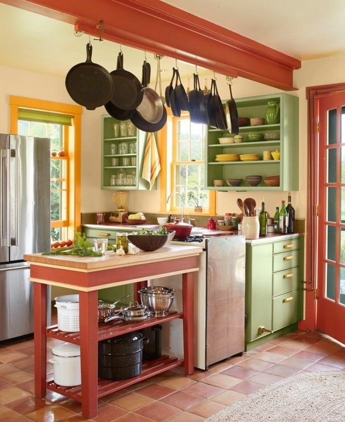 Kleine Küche einrichten   44 Praktische Ideen für Individualisierung des kleines Raumes ...