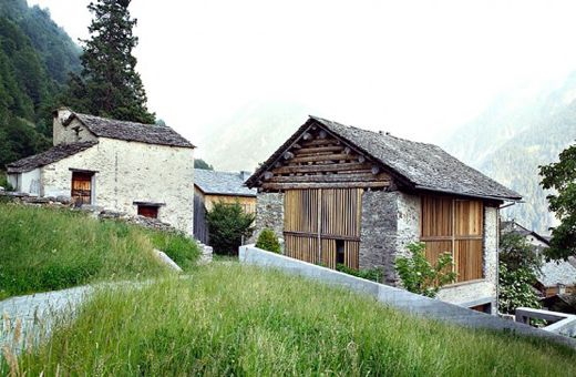Renovated Swiss barn.