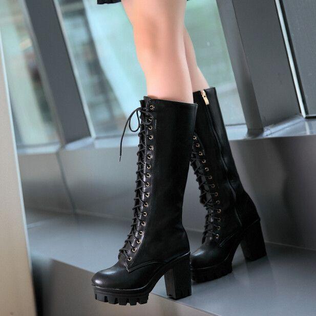 Fashion retro high boots Cute Kawaii Harajuku Fashion Clothing - clothing sponsorship