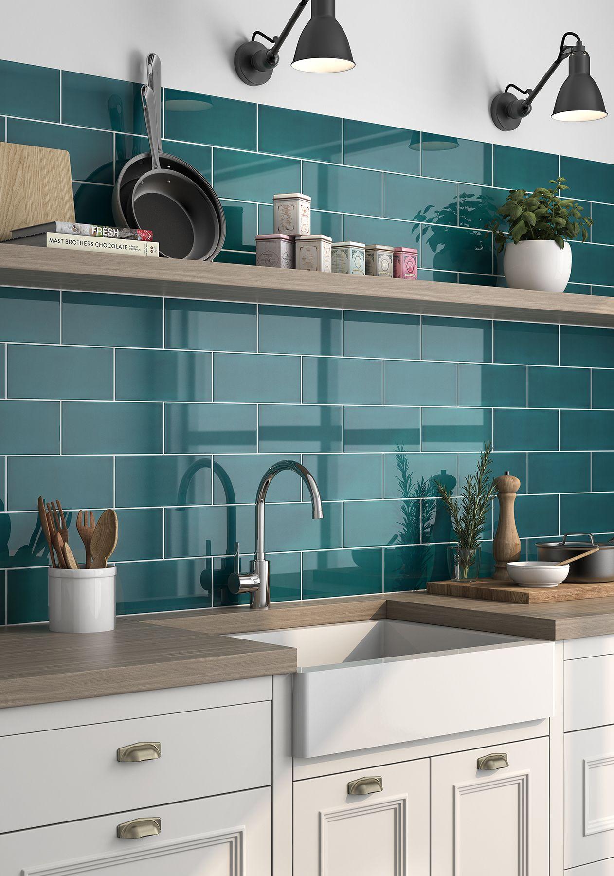Joy Tiles Ceramic Wall Characteristics Application Blue Ceramic Color Gray Green Look Material Mul Kitchen Tiles Kitchen Interior Blue Kitchen Tiles