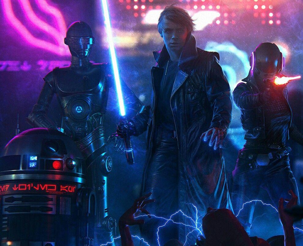 Star Wars Cyberpunk Star Wars Fan Art Star Wars Universe Star Wars Fans