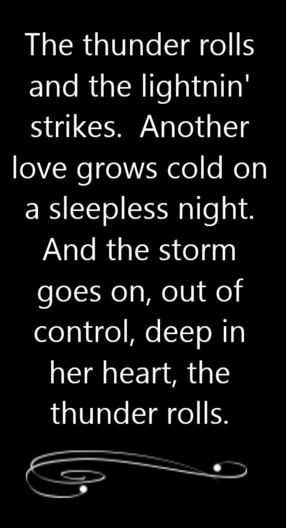 Garth Brooks - Thunder Rolls - song lyrics, song quotes, songs ...