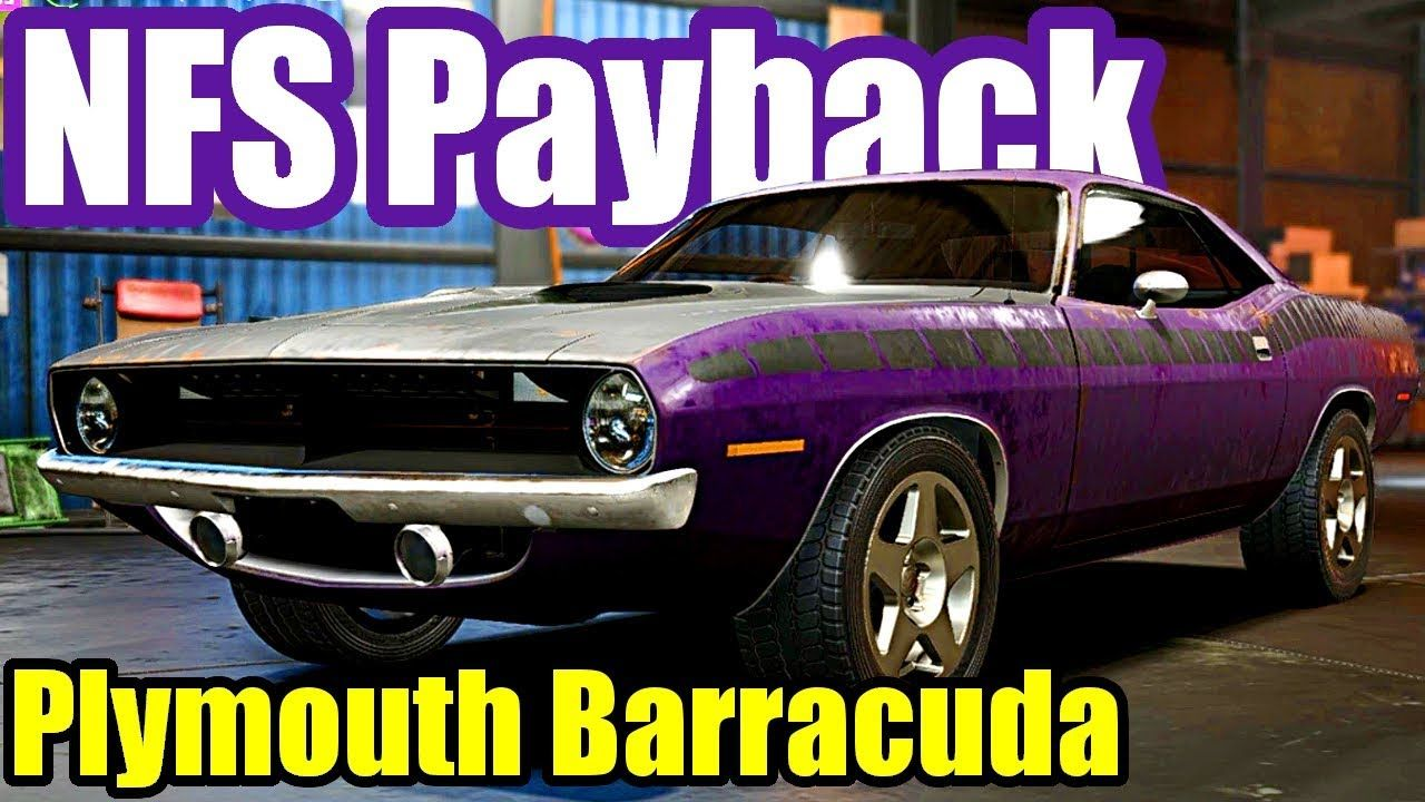 Need For Speed Payback 20 Plymouth Barracuda Abandoned Car