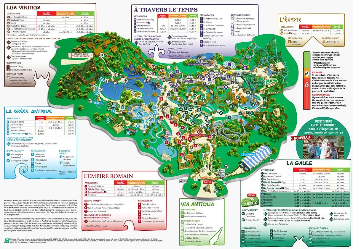 Map Of Asterix Park Http Map Of Paris Com Attractions Maps