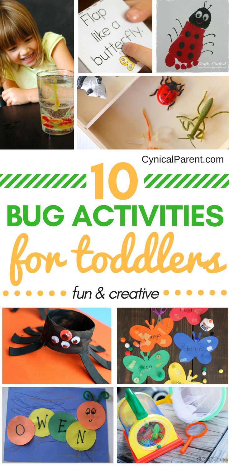 10 Fun and Creative Bug Activities for Toddlers (great for